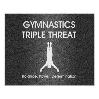 Amenaza SUPERIOR del triple de la gimnasia (hombre Póster