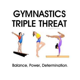 Amenaza SUPERIOR del triple de la gimnasia w Esculturas Fotográficas