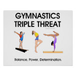 Amenaza SUPERIOR del triple de la gimnasia (w) Posters