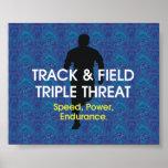 Amenaza SUPERIOR del triple de la pista Posters