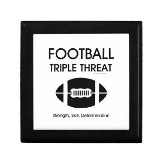 Amenaza SUPERIOR del triple del fútbol Cajas De Regalo