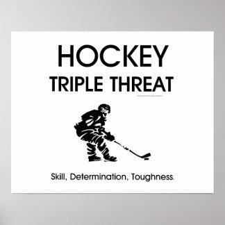 Amenaza SUPERIOR del triple del hockey Poster