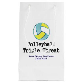 Amenaza SUPERIOR del triple del voleibol Bolsa De Regalo Pequeña