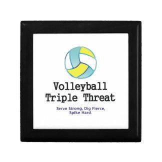 Amenaza SUPERIOR del triple del voleibol Caja De Regalo