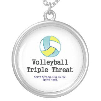Amenaza SUPERIOR del triple del voleibol Joyerias Personalizadas