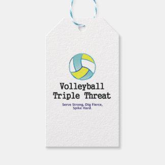 Amenaza SUPERIOR del triple del voleibol Etiquetas Para Regalos