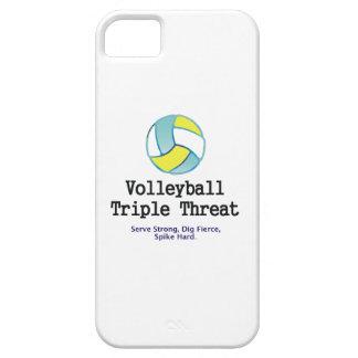 Amenaza SUPERIOR del triple del voleibol iPhone 5 Cárcasas