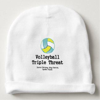 Amenaza SUPERIOR del triple del voleibol Gorrito Para Bebe