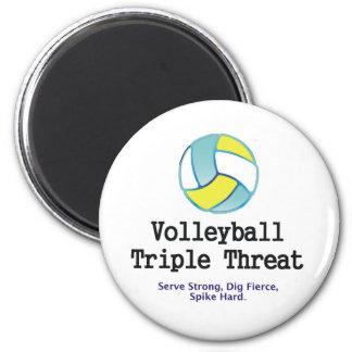Amenaza SUPERIOR del triple del voleibol Imán De Nevera