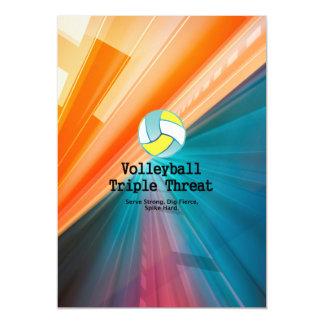 Amenaza SUPERIOR del triple del voleibol Invitaciones Magnéticas