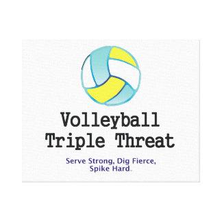 Amenaza SUPERIOR del triple del voleibol Lienzo Envuelto Para Galerías