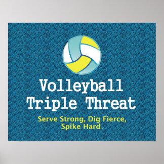 Amenaza SUPERIOR del triple del voleibol Impresiones