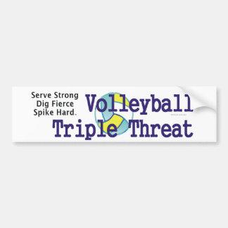 Amenaza SUPERIOR del triple del voleibol Pegatina Para Auto