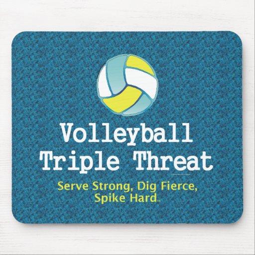 Amenaza SUPERIOR del triple del voleibol Alfombrilla De Raton