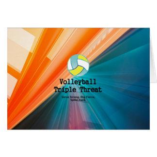 Amenaza SUPERIOR del triple del voleibol Tarjeta De Felicitación