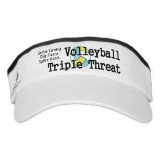 Amenaza SUPERIOR del triple del voleibol Visera
