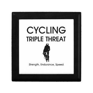 Amenaza triple de ciclo SUPERIOR Caja De Joyas