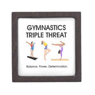Amenaza triple de la gimnasia caja de regalo de calidad