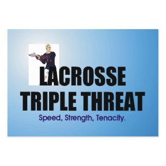 Amenaza triple SUPERIOR de LaCrosse Tarjetas De Visita Grandes