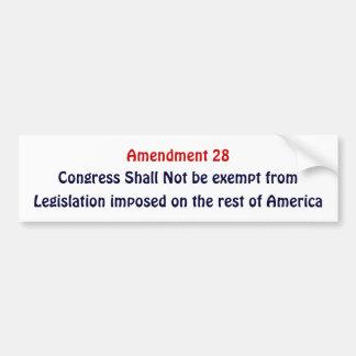 Amendment 28, Congress Shall Not be exempt Bumper Sticker