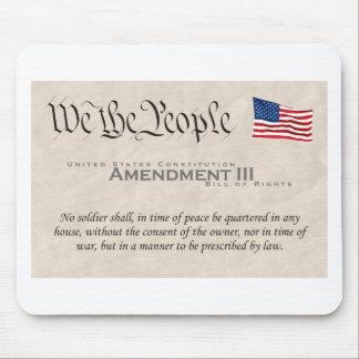 Amendment III Mouse Pad
