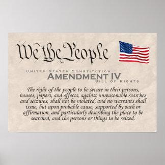 Amendment IV Poster