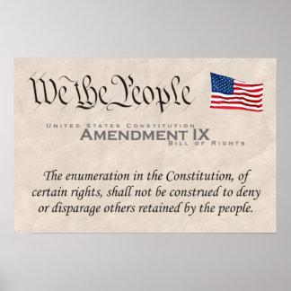 Amendment IX Poster