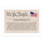 Amendment V Postcard