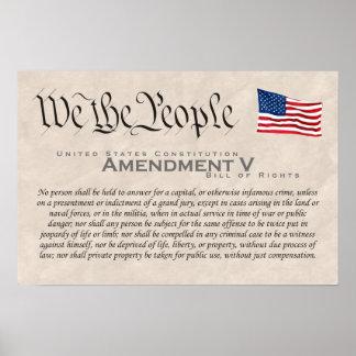 Amendment V Poster