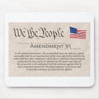 Amendment VI Mouse Pad