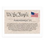 Amendment VI Post Cards