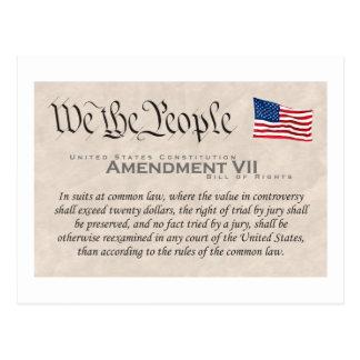 Amendment VII Postcard