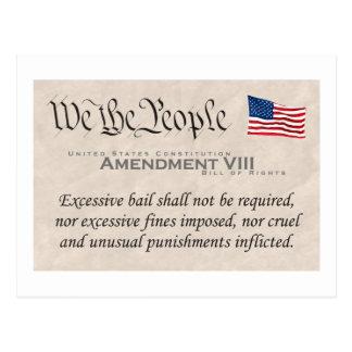 Amendment VIII Postcard