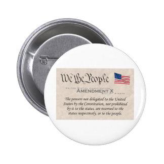 Amendment X Pinback Buttons