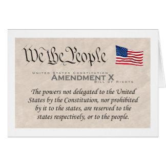 Amendment X Card