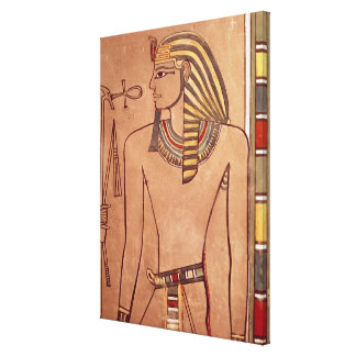 Amenhotep II  with an ankh raised to his lips Stretched Canvas Print