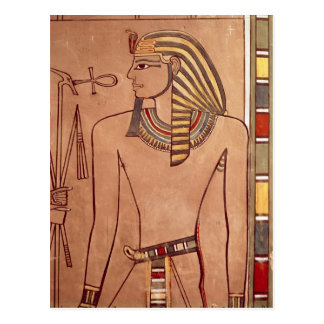 Amenhotep II  with an ankh raised to his lips Postcard