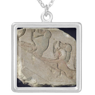 Amenophis IV  with baboons, New Kingdom Silver Plated Necklace