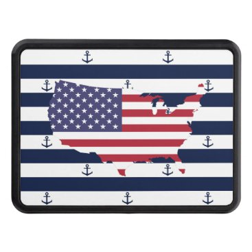 USA Themed amer hitch cover