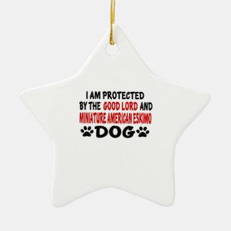Amer miniatura me protejo el buen señor y adorno navideño de cerámica en forma de estrella