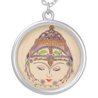 Amerat Goddess of Flora Silver Plated Necklace