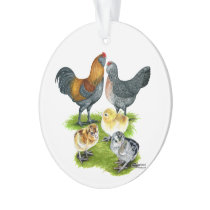 Ameraucana Chicken Family Ornament