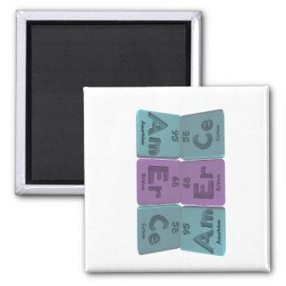 Amerce-Am-Er-Ce-Americium-Erbium-Cerium 2 Inch Square Magnet