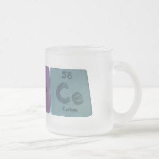 Amerce-Am-Er-Ce-Americium-Erbium-Cerium Frosted Glass Coffee Mug