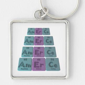 Amerce-Am-Er-Ce-Americium-Erbium-Cerium Keychain