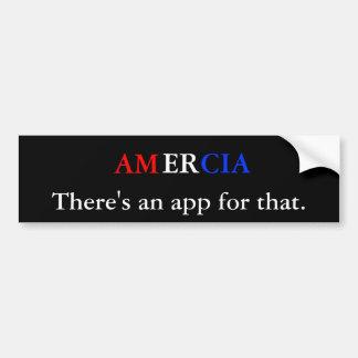 Amercia allí es un app para eso etiqueta de parachoque