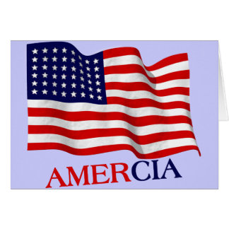 AMERCIA false flag design (America) Card