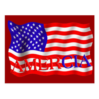 AMERCIA false flag design (America) Postcard