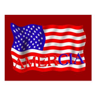 AMERCIA false flag design (America) Postcard