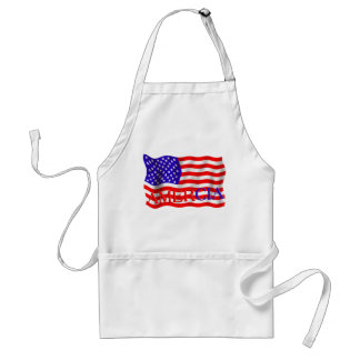 Amercia false flag mistake (America) Adult Apron